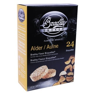 Bradley Smokers 106688 Alder Bisquettes Smoker, 24-Pack