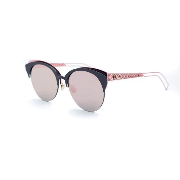 2a59c701c3ef Shop Christian Dior Womens Red Safilo Diorama Club Metal Sunglasses ...