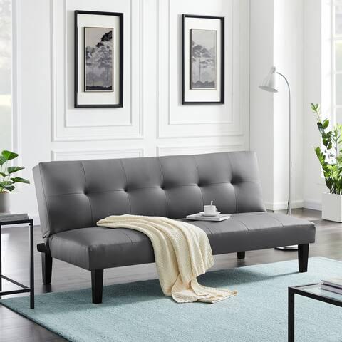 TiramisuBest Futon LoveSeat Couch Sleeper Sofa,Grey