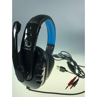 NEW - Krazilla KZH-733 Blue HD Gaming Headphones 20-20,000Hz 50mW 32ohm 1.8m Cord