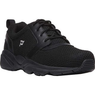 Propet Men's Stability X Walking Sneaker Black Mesh
