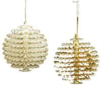 Pack of 12 Seasons of Elegance Silver and Gold Pinecone Ball Christmas Ornaments