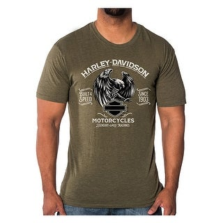 Harley-Davidson Men's Predator Eagle Short Sleeve Crew T-Shirt, Fatigue Green