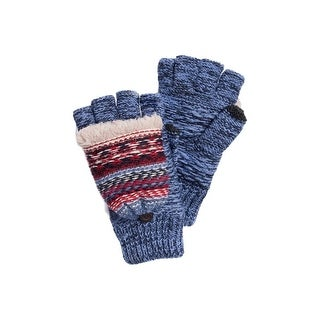 Muk Luks Gloves Womens B Side Flip Mittens O/S Denim 0034216 - One size