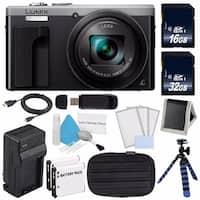 Panasonic LUMIX 4K DMC-ZS60 Digital Camera (Silver) (International Model) No Warranty + Small Case + Mini HDMI Cable Bundle