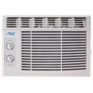Arctic King AKW05CM51 5000 BTU 115 Volt Window Air Conditioner with Turn Knob Controls and Removable Filters