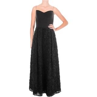 Aidan by Aidan Mattox Womens Evening Dress Crepe Rosette
