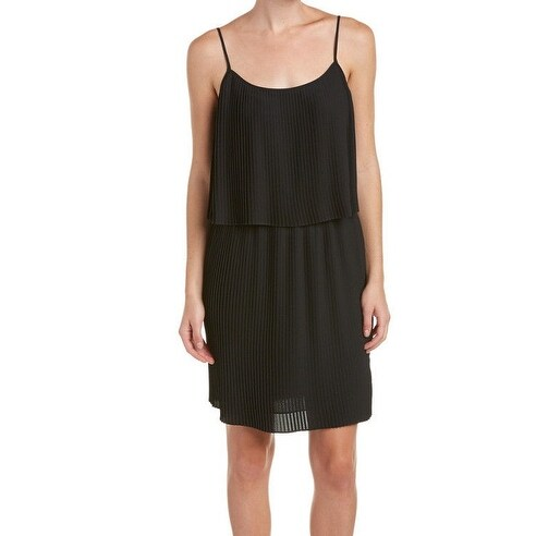 Vince Camuto NEW Black Women's Size Medium M Pleated Popover Dress