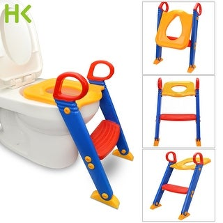 HK Anti Slip Potty Training Ladder Step Up Seat Toilet Contoured Cushion Training Step Stool for Kids and Toddlers