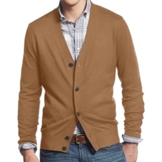 Tommy Hilfiger NEW Brown Mens Size Large L Cardigan Buttoned Sweater