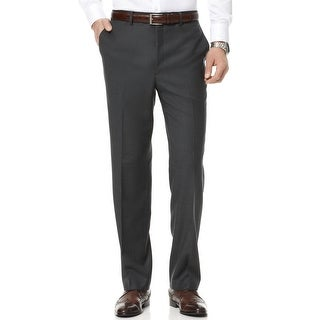 DKNY Mens Gray Wool Pants 32x30 Dress Pants Flat Front $150