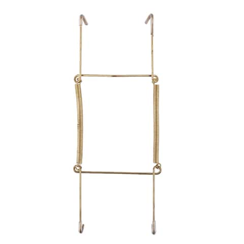 Metal 7.5 to 9 Inch Spring Plate Hangers Wall Rack Holder Hook Display Gold Tone - Gold Tone - Gold Tone