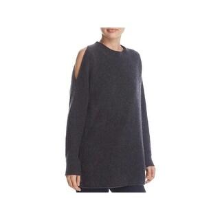 Private Label Womens Pullover Sweater Cashmere Cold Shoulder