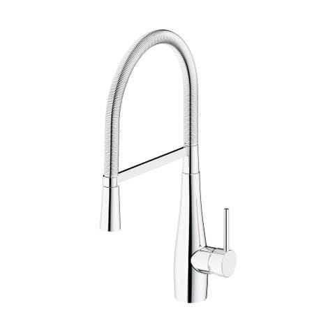 """SAFAVIEH Solea Rhapsody Stainless Steel Dual Function Pull-Down Spray Kitchen Faucet - 9.9"""" x 4.1"""" x 19.5"""""""