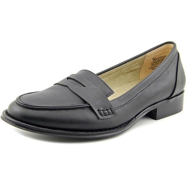 Wanted Campus Women Round Toe Synthetic Black Loafer