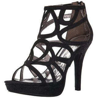 Report Signature Womens Rocko Open Toe Ankle Strap Platform Pumps