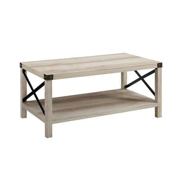 """Bronze Industrial Coffee Table: Shop Offex 40"""" Rustic Urban Industrial Style Metal X"""