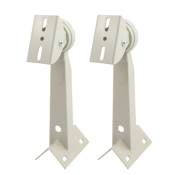 2pcs Wall Mount CCTV System Housing Iorn Mounting Bracket Gray 300mm Height