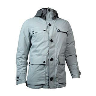 Nautica Men's Hooded Down Parka Jacket (M, Radial Grey) - M