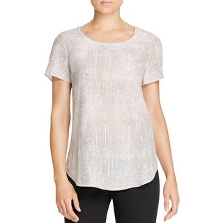 Eileen Fisher Womens Pullover Top Silk Printed