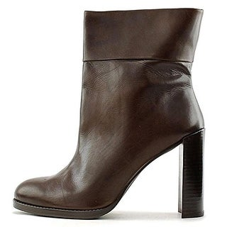 Stuart Weitzman Womens Pully Ankle Boots Leather Round Toe