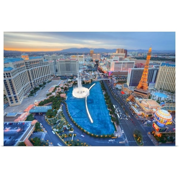 """View of city, Las Vegas, Nevada, USA."" Poster Print"