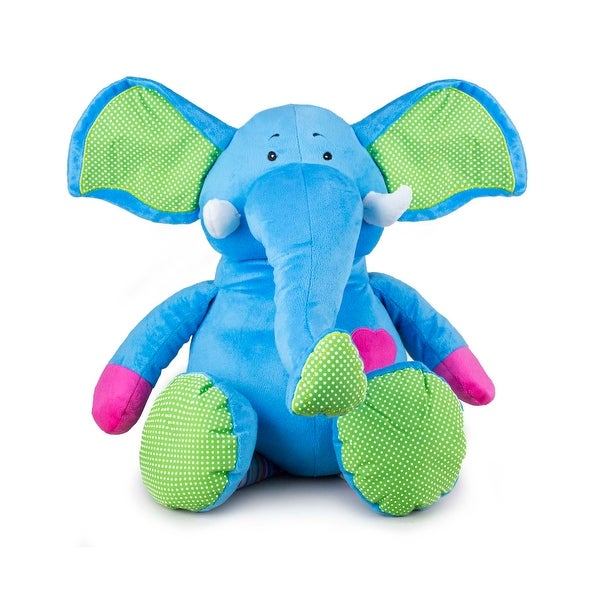 Beverly Hills Teddy Bear Company Bright Striped Elephant