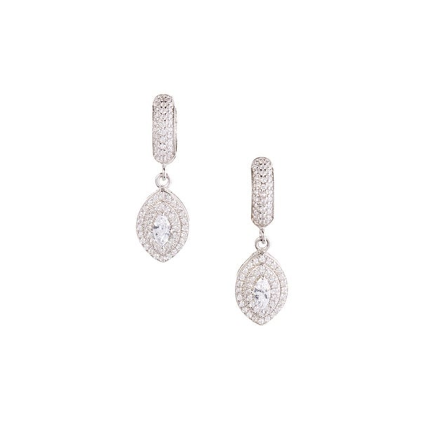 925 Sterling Silver Dangle Earrings with Cubic Zirconia