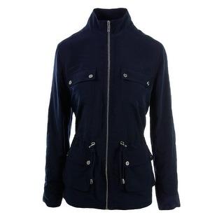 Calvin Klein Womens Drawstring Long Sleeves Anorak Jacket