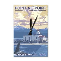 Hansville WA Point No Point Lighthouse LP Artwork (Acrylic Wall Clock) - acrylic wall clock