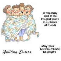 """Quilt Set - Art Impressions Girlfriends Cling Rubber Stamps 10""""X4.5"""""""