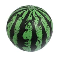 Child Green Black Rubber Watermelon Ball Playing Toy 14cm Dia