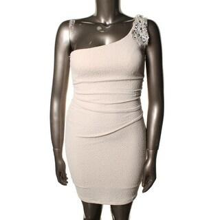 Emerald Sundae Womens Juniors Embellished Prom Cocktail Dress