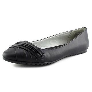 White Mountain Selina Women Pointed Toe Synthetic Black Flats (Option: 7)