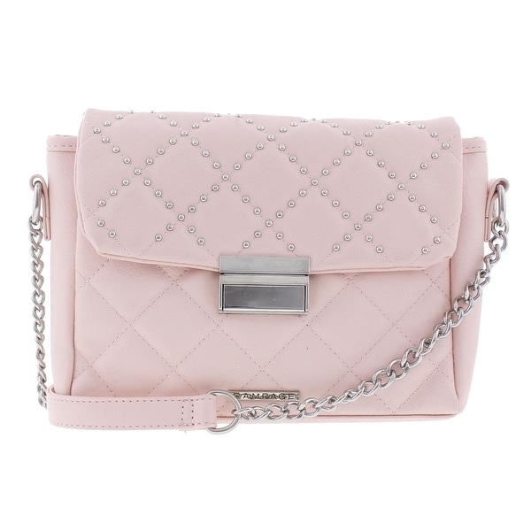 Rampage Womens Crossbody Handbag Faux Leather Quilted Small