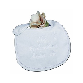 Little Things Mean A Lot White My Godfather Loves Me Bib - One Size