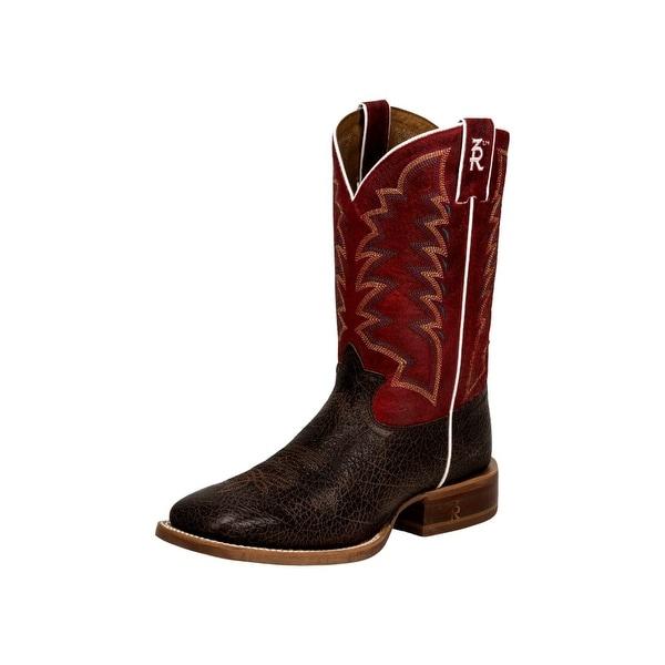 Tony Lama Western Boots Mens Socorro Red Broad Square Toe