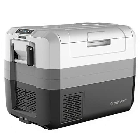 58 Quart Portable Electric Camping Car Cooler - White