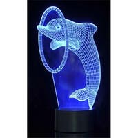 AZ Import TG2856 Optical Illusion 3D Dolphin Lighting