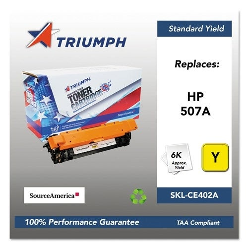 Triumph Remanufactured 507A Toner Cartridge - Yellow Toner Cartridge