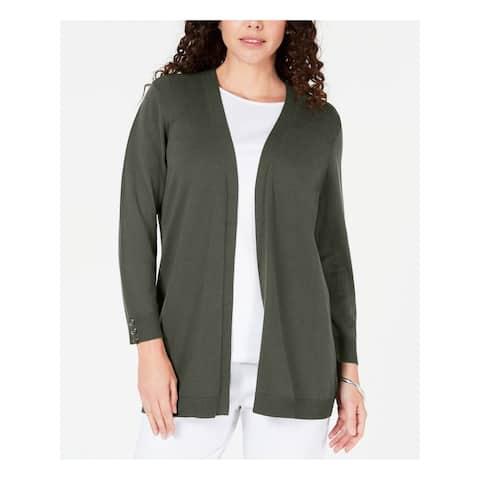 KAREN SCOTT Gray Long Sleeve Sweater S
