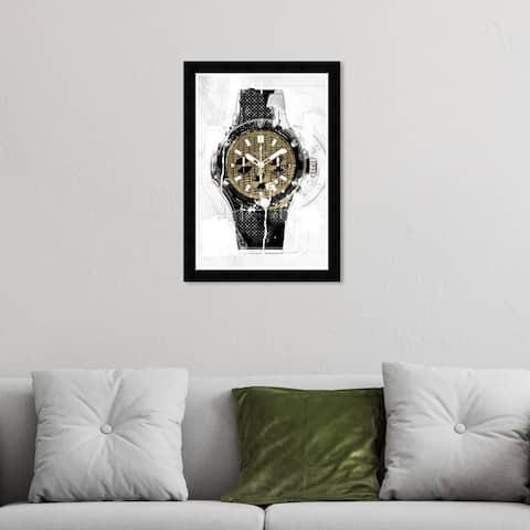 Hatcher & Ethan 'Golden Timeframe' Wall Art Framed Print- Black, Gold