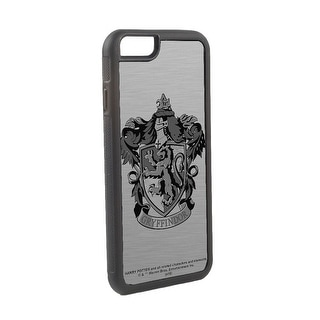 Harry Potter Gryffindor Crest Logo Brushed Silver Black Cellphone Case iPhone6 Rubber Case