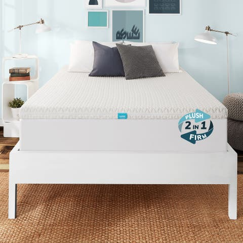 SleepInc. 3 Inch Reversible Hybrid Mattress Topper