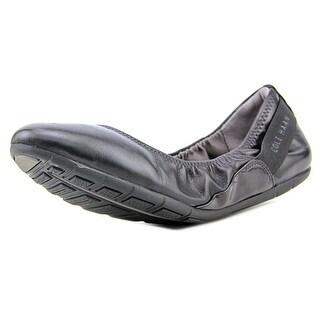 Cole Haan Zerogrand Stagedoor Round Toe Leather Ballet Flats