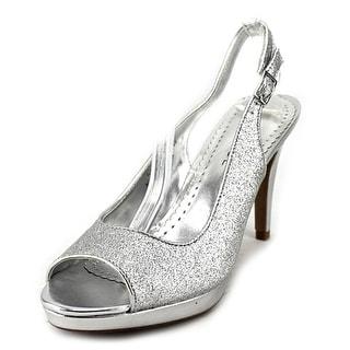 Rampage Flanders Women Open-Toe Synthetic Silver Slingback Heel