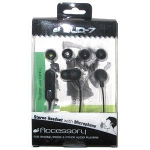 DigiCom iBud-7 Headset with Microphone, Black