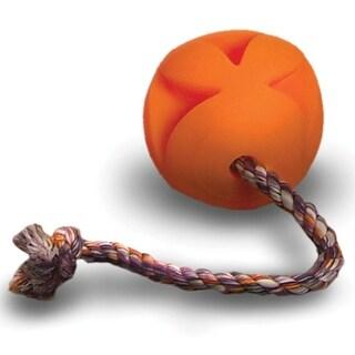 Soft-Flex Toss-N-Clutch Ball Rope Dog Toy, 4.5-inch
