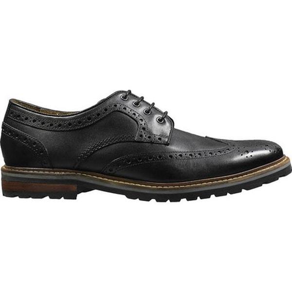 Estabrook Wingtip Derby Black Leather