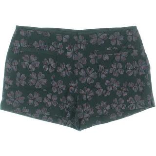 Rachel Rachel Roy Womens Printed Patch-Pocket Shorts